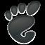 ícone de uma pegada