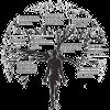 Ícone assintec 43 mostra uma árvore com um corpo humano como tronco