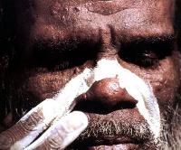 imagem de um aborígene