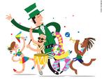 A festa carnavalesca surgiu a partir da implantação, no século XI, da Semana Santa pela Igreja Católica, antecedida por 40 dias de jejum, a Quaresma. Esse longo período de privações acabaria por incentivar a reunião de diversas festividades nos dias que antecediam a Quarta-feira de Cinzas, o primeiro dia da Quaresma. A palavra &quot;carnaval&quot; está, desse modo, relacionada com a ideia de deleite dos prazeres da carne, marcado pela expressão &quot;carnis valles&quot;, que acabou por formar a palavra &quot;carnaval&quot;, sendo que &quot;carnis&quot;, em latim, significa carne, e &quot;valles&quot;, significa prazeres. <br><br> Palavras-chave: festa, Semana Santa, igreja, católico, quaresma, Quarta-feira de Cinzas, carnaval, ritos, desfile, tradição, profano, sagrado.