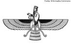 O Faravahar (ou Ferohar), representação da alma humana antes do nascimento e depois da morte, é um dos símbolos do zoroastrismo. <br><br> Palavras-chave: Faravahar, símbolos, zoroastrismo, vida e morte