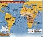 Esse mapa ajuda a entender o grande fluxo de escravos da África para as Américas. Aprofundando a leitura da imagem é possível fazer uma relação do local onde os escravos eram trazidos da África com a religiosidade que foi instituída por eles nos diferentes pontos do Brasil e da América. <br><br>Palavras-chave: mapa, escravidão, Brasil, África, escravos, religiosidade, tráfico de escravos