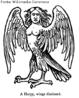 Na mitologia grega, a harpia (grego: &#7941;&#961;&#960;&#965;&#953;&#945; = pronuncia: harpyia) foi um dos espíritos alados mais conhecido por constantemente roubar toda a comida de Phineus. O significado literal da palavra parece ser &quot;o que arrebata&quot;, pois vem da palavra grega Harpazein (&#7937;&#961;&#960;&#940;&#950;&#949;&#953;&#957;), que significa &quot;arrebatar&quot;. <br><br> Palavras-chave: Harpia, mitologia, espíritos, Grécia, lendas