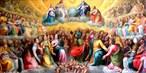 """A festa do """"Dia de Todos os Santos"""" em honra de todos os santos e mártires da Igreja Católica, conhecidos ou não, é celebrada no 1º dia de novembro. Segundo o ensinamento da Igreja, a intenção desta comemoração em todo o mundo ressalta o chamamento de Cristo a cada pessoa para o seguir e ser santo, à imagem de Deus, à imagem em que foi originalmente criada e para a qual deve continuar a caminhar em amor.  <br><br> Palavras-chave: santos, católico, igreja, comemoração, mártires, universo religioso."""